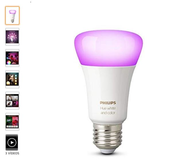 Bombilla Philips HUE white and color ambience