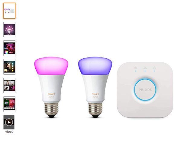 Bombillas inteligentes Philips Hue de la gama de luz blanca