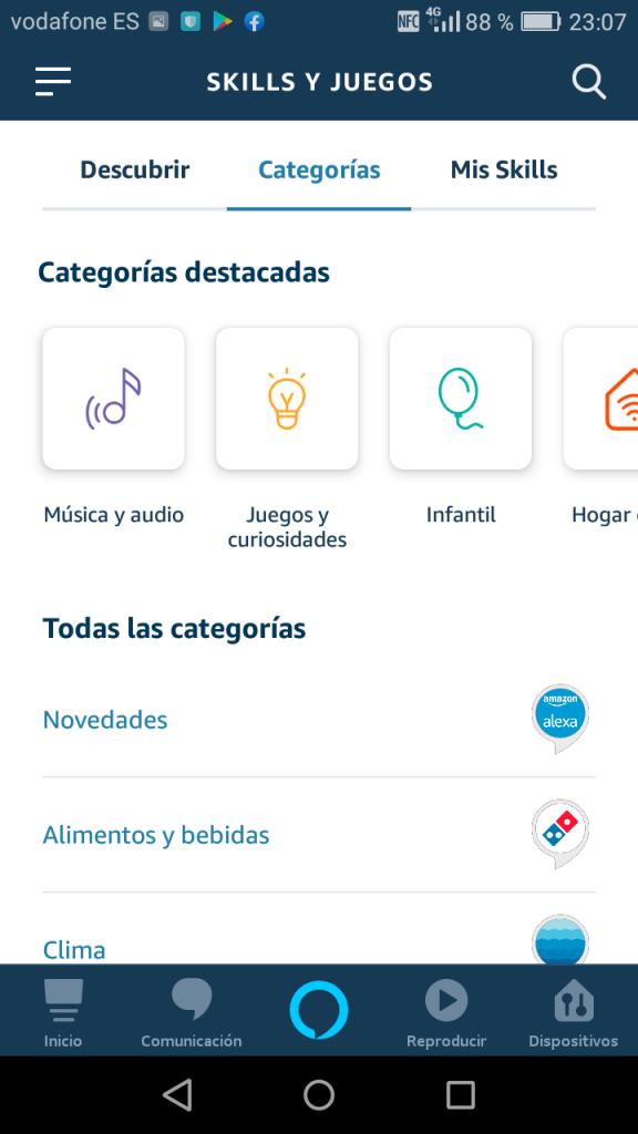 Captura de pantalla de app
